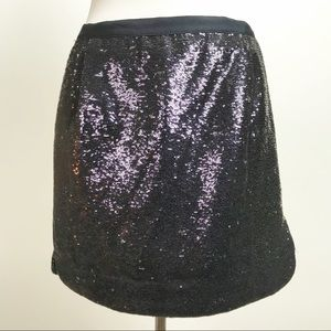 J. Crew Shirttail Mini in Sequins Lined Mini Skirt